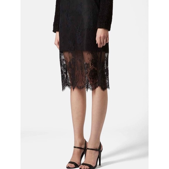 Topshop Dresses & Skirts - 🆕 Top Lace Overlay Pencil Skirt